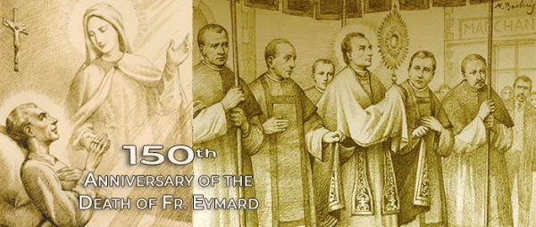 May 25, 1845 – Fr. Eymard during a Corpus Christi procession at St. Paul's in Lyon